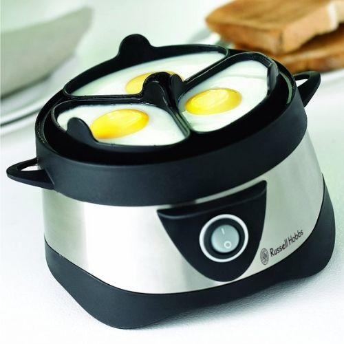 Photo du cuiseur vapeur oeuf qui cuit des oeufs aux plats.